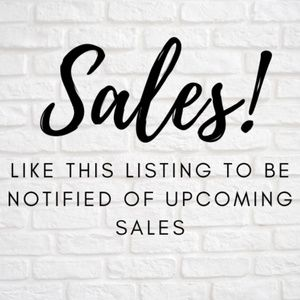 Want to know when I'm having a sale?